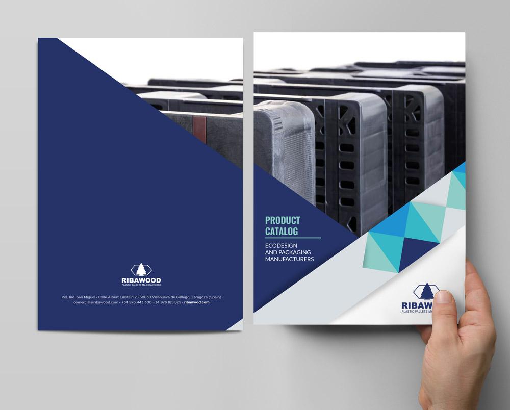 diseño y maquetación catálogo productos SinPalabras